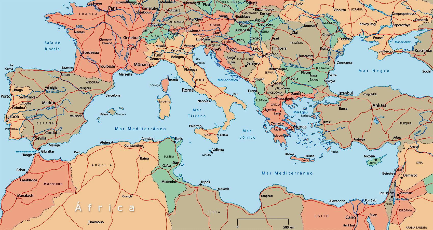 Mare Mediterraneo Cartina.Mediterraneo La Rotta Dei Fenici