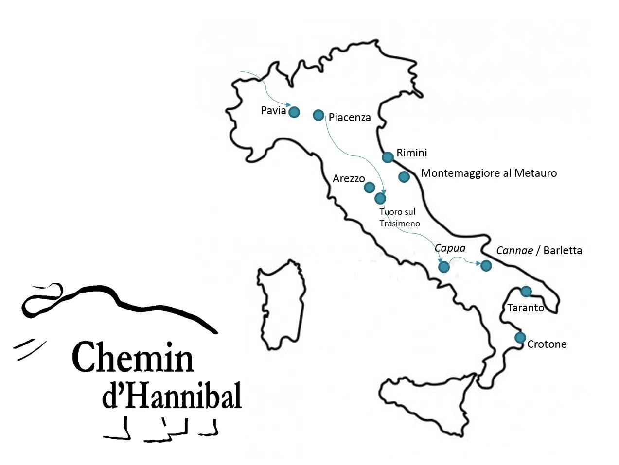 Le Chemin D Hannibal Italie La Rotta Dei Fenici